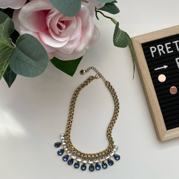 Aldo Jewelry - 4/$15 Blue and gold Jewel chunky necklace